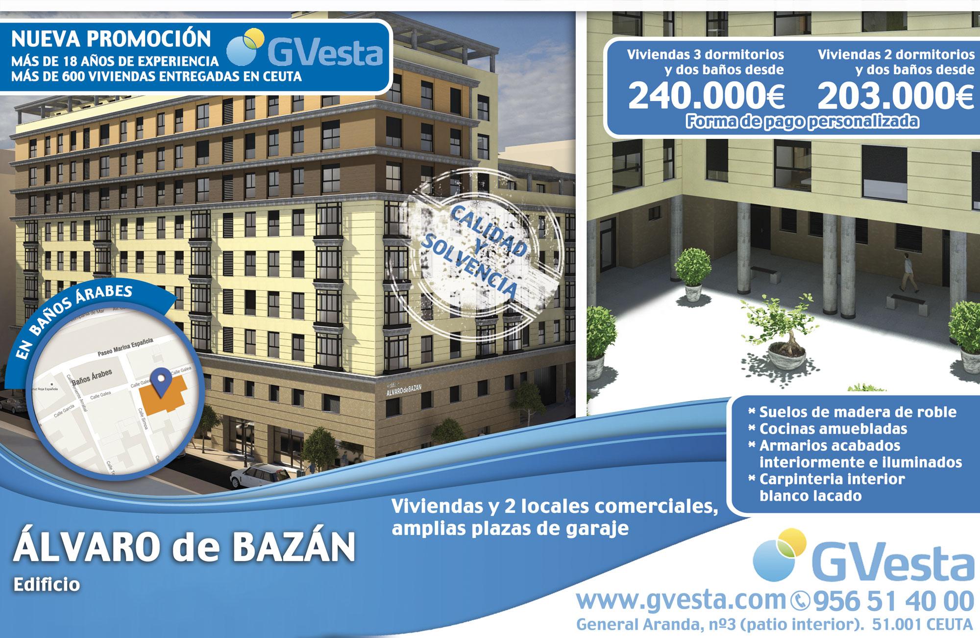 Edificio Álvaro de Bazán en Baños Árabes